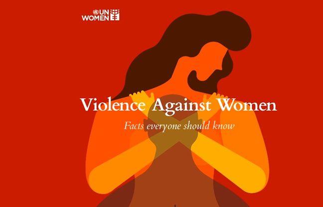 Le visuel de l'ONU contre les violences à l'égard des femmes.