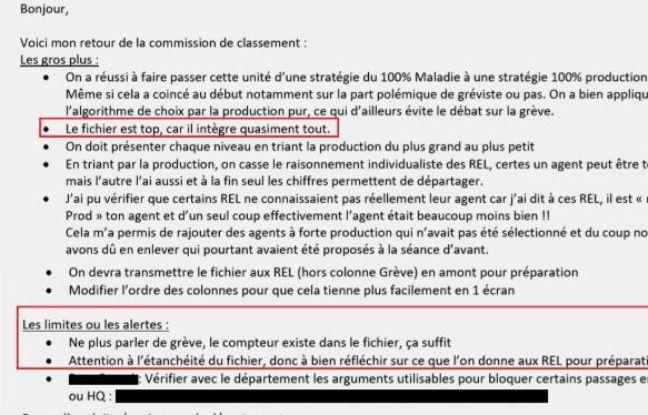 Le directeur du centre bus de Neuilly-Plaisance évoque dans un mail le fichier Excel ayant permis de ficher illégalement des conducteurs de bus de la RATP.