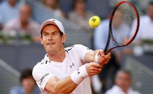 Andy Murray tire la grimace.