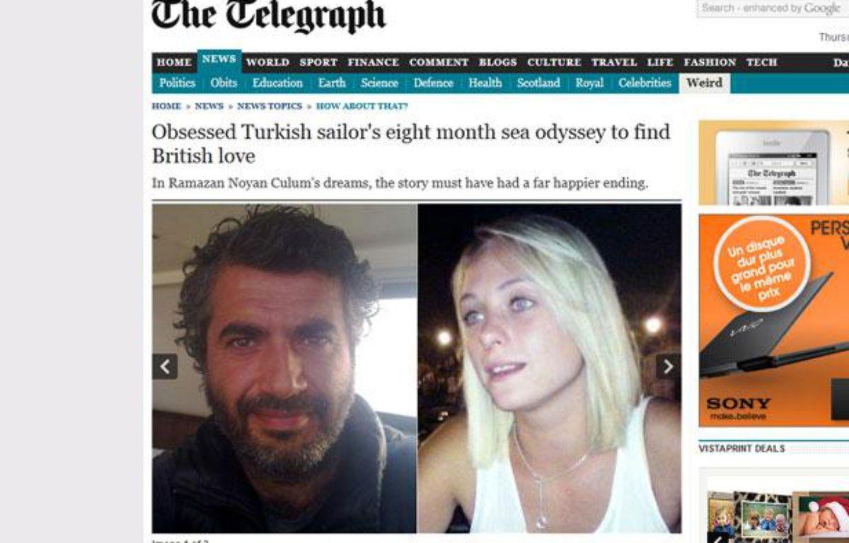 Capture d'écran du «Daily Telegraph» montrant Ramazan Noyan Culum et Courtney Murray. – 20minutes.fr