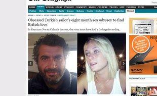 Capture d'écran du «Daily Telegraph» montrant Ramazan Noyan Culum et Courtney Murray.