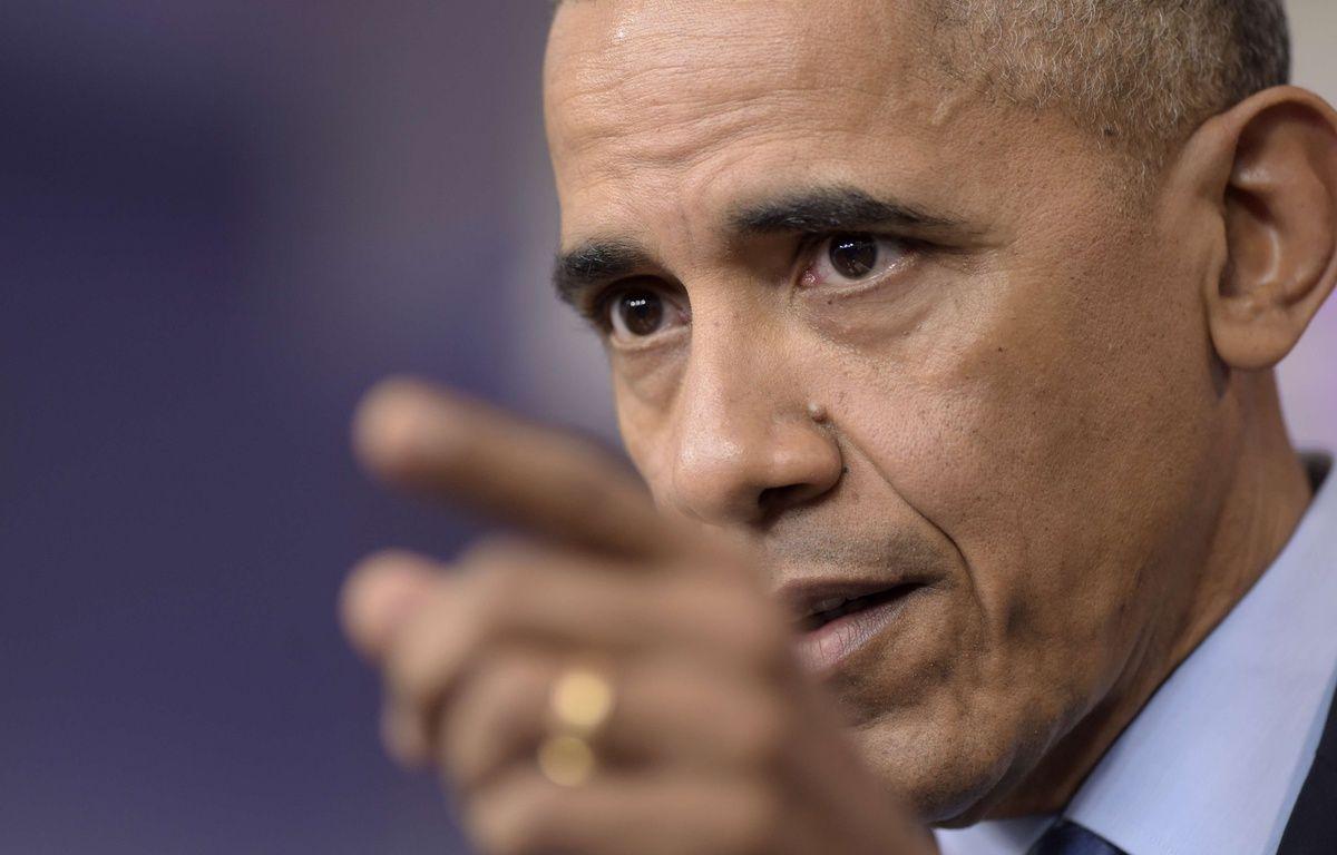 Barack Obama, lors d'une conférence de presse à la Maison Blanche, le 16 décembre 2016. – S.WALSH/AP/SIPA