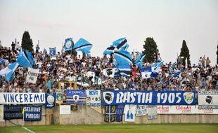 Des supporters du SC Bastia