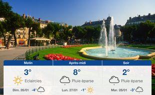 Météo Grenoble: Prévisions du samedi 25 janvier 2020