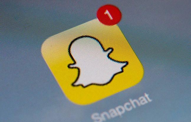 Icône de Snapchat sur un smartphone.