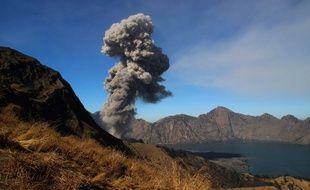 Mont Rinjani en Indonésie.