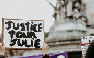 Une manifestation contre les violences faites aux femmes à Paris.