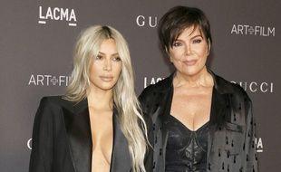 Les stars de la téléréalité Kim Kardashian et sa mère Kris Jenner