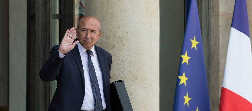 Le ministre de l'Intérieur Gerard Collomb devant l'Elysée le 22 août 2018.