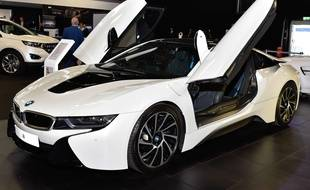 Une BMW i8 au London Motor Show, le 5 mai 2016.