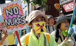 Des milliers de manifestants se sont rassemblés dimanche à Tokyo pour protester contre le nucléaire, alors que le Premier ministre conservateur Shinzo Abe songe à réactiver les réacteurs, dont la plupart sont à l'arrêt en raison de l'accident de Fukushima.