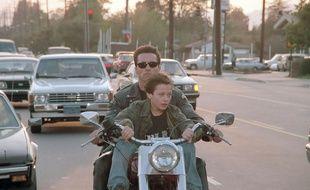 Arnold Schwarzenegger  et Edward Furlong dans Terminator 2: le jugement dernier 3D de James Cameron