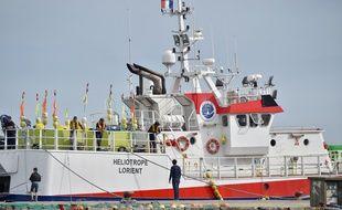 L'Héliotrope, bateau de la Scapêche basé à Lorient, où un foetus congelé a été retrouvé le 11 juillet 2017.