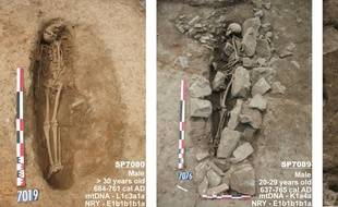 Les trois squelettes étaient tournés vers La Mecque