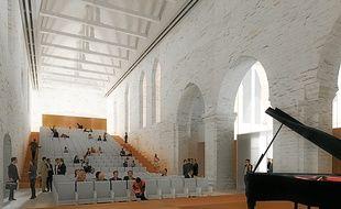 L'un des auditoriums devrait être utilisé toute l'année par l'orchestre de Bretagne.