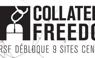Le logo de l'opération Collateral Freedom de RSF