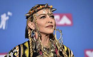 La chanteuse Madonna à New York.