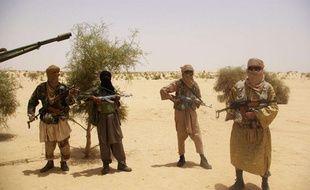 Des combattants du groupe islamiste Ansar Dine le 24 avril 2012