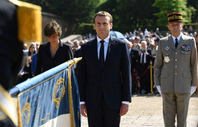 Le Président Emmanuel Macron a commémoré l'Appel du 18 juin au Mont Valérien dimanche 18 juin 2017, jour du second tour des élections législatives.