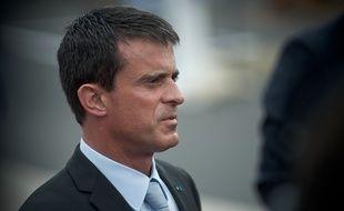Manuel Valls au Bourget, le 19 juin 2015. Credit:NICOLAS MESSYASZ/SIPA