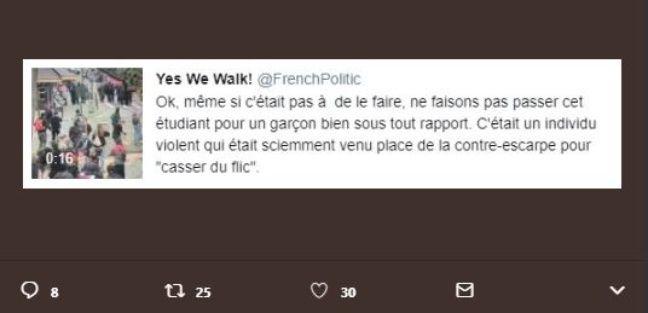 Capture d'Ecran du tweet envoyé par le compte @FrenchPolitic la nuit du 18 au 19 juillet 2018.