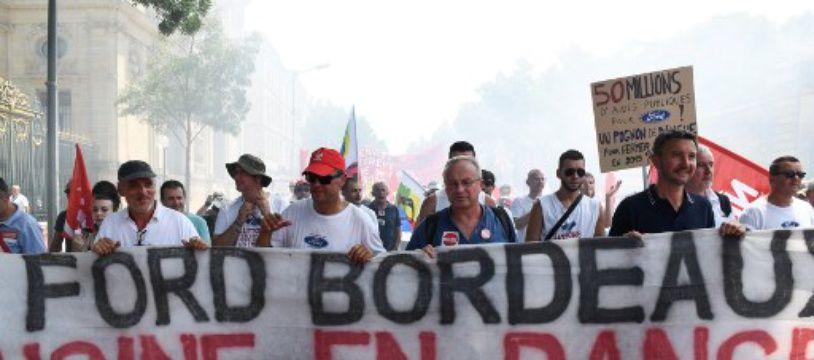 Une manifestation de soutien aux salariés de l'usine Ford de Blanquefort a eu lieu samedi, à Bordeaux.