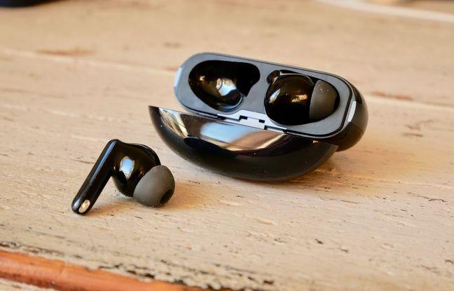 Les écouteurs Enco X d'Oppo.