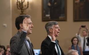 Les diplomates américains George Kent et Bill Taylor ont témoigné devant le Congrès dans la procédure d'impeachment visant Donald Trump, le 13 novembre 2019.