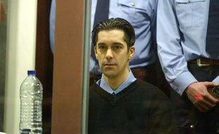 Michel Lelièvre, l'un des complices de Marc Dutroux, lors de son procès à Arlon, en Belgique, le 2 mars 2004.