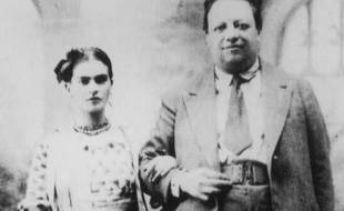 Photo du couple d'artistes Diego Rivera et Frida Kahlo