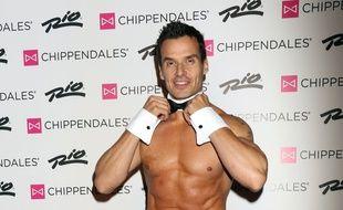 L'acteur Antonio Sabato Jr. lorsqu'il a rejoint le spectacle des Chippendales en 2016