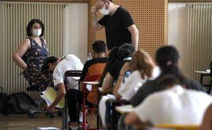 Pendant l'épreuve de philo du bac le 17 juin dernier à Strasbourg.