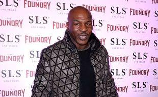 L'ex champion de boxe, Mike Tyson, à l'événement de The Foundry à Las Vegas.