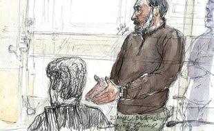 Djamel Beghal lors de son procès en appel en 2014 à Paris.