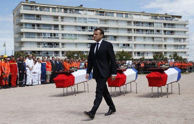 VIDEO. Naufrage aux Sables-d'Olonne: Emmanuel Macron rend hommage aux sauveteurs de la SNSM «morts en héros»
