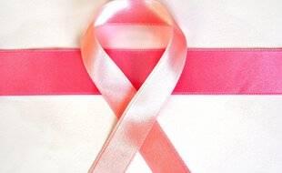 Illustration du ruban, symbole d'octobre rose.