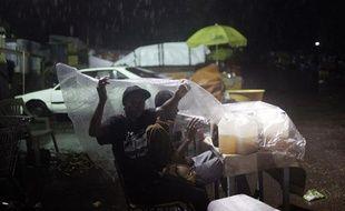 De fortes pluies ont frappé Haïti samedi 27 février 2010.