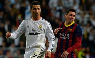 Cristiano Ronaldo et Lionel Messi le 23 mars 2014.