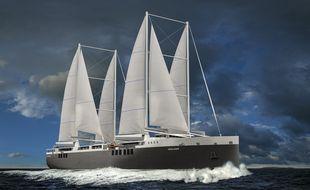 Image de synthèse du cargo voilier commandé par Neoline.