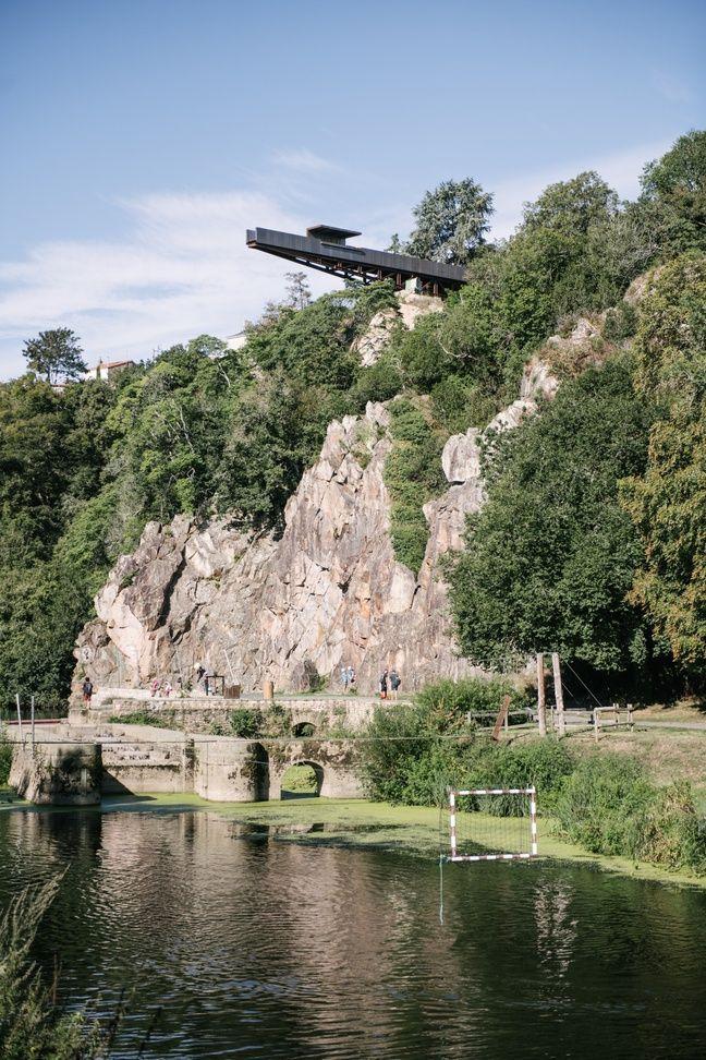 Le belvédère Porte-Vue domine le site de Pont-Caffino.