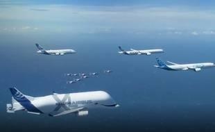 La flotte Airbus au-dessus de la Méditerranée, le 29 mai 2019.