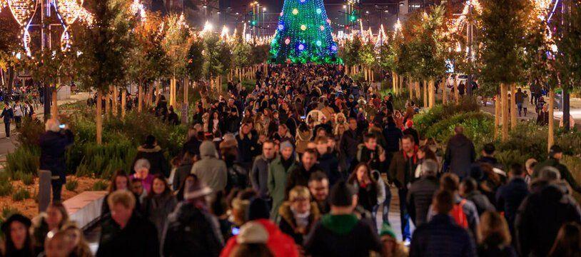 Le sapin de Noël XXL, composé de 400 petits sapins, a été installé pour la première fois à Toulouse l'an dernier sur les ramblas.