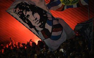 Des supporters de la Sampdoria lors d'un match amical face à l'OM, en 2013.