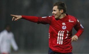 Le lillois Ludovic Obraniak, après son but face au PSG, à Lille, le 16 janvier 2009.