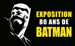 Détail de l'affiche annonçant l'exposition Batman à Angoulême