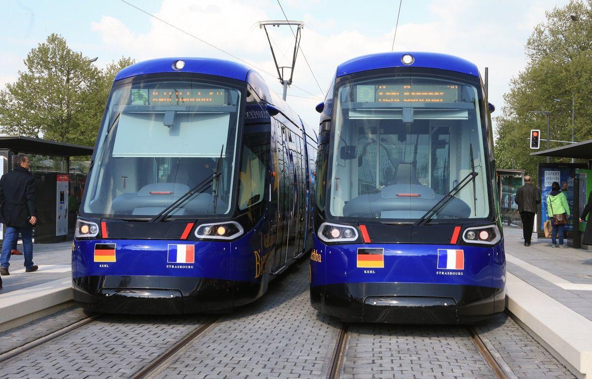 Inauguration du tram transfrontalier entre Strasbourg et Kehl en Allemagne. Le 28 avril 2017 – G. Varela / 20 Minutes
