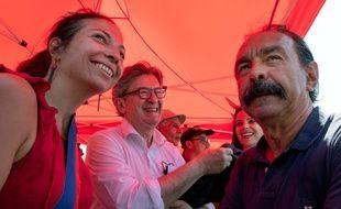 Jean-Luc Mélenchon et Philippe Martinez, à Gerzat, le 25 juin 2020.