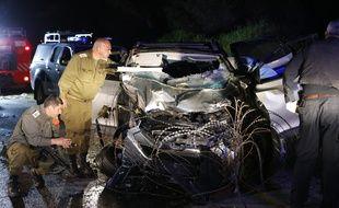 Deux soldats israéliens ont été tués dans une attaque à la voiture-bélier le 16 mars 2018.