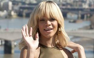 Rihanna pendant la séance photo pour Battleship, à Londres, le 28 mars 2012.