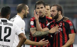 Higuain après son expulsion face à la Juventus